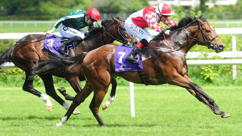 Zihba goes on to win the Amethyst Stakes