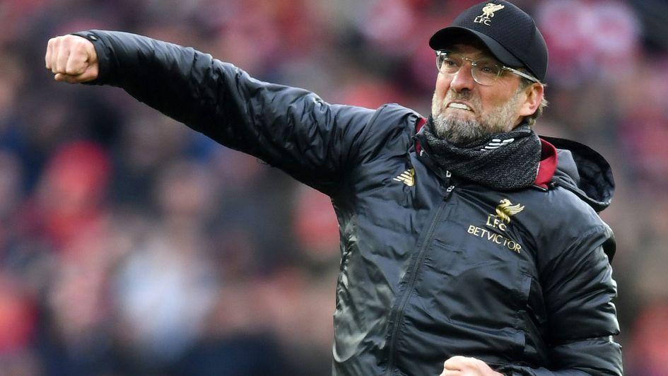 Passionate Jurgen Klopp celebrates after Liverpool's victory over Chelsea