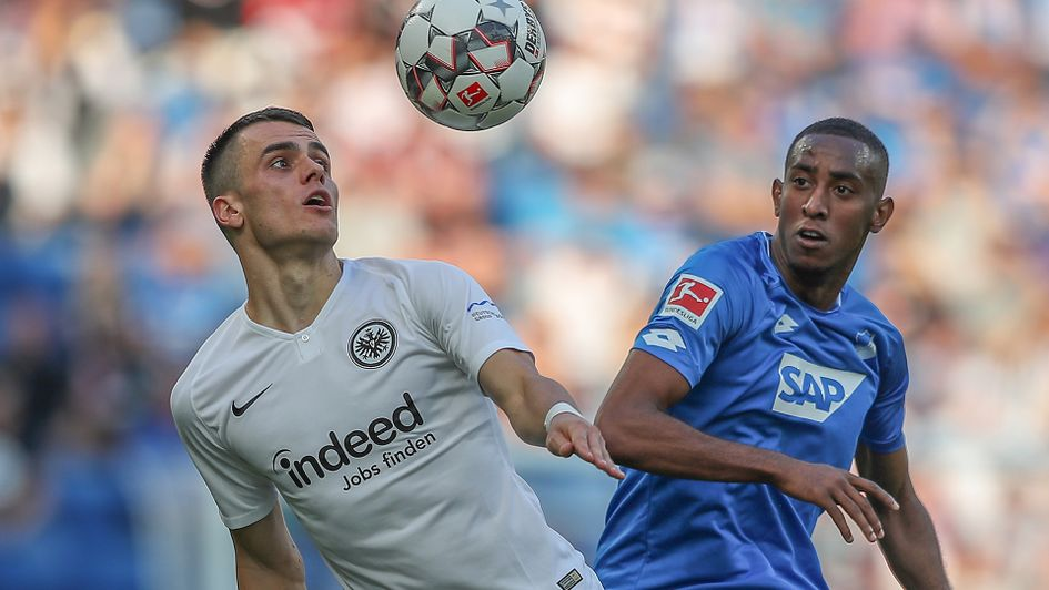 Joshua Brenet (right) in action against Eintracht Frankfurt