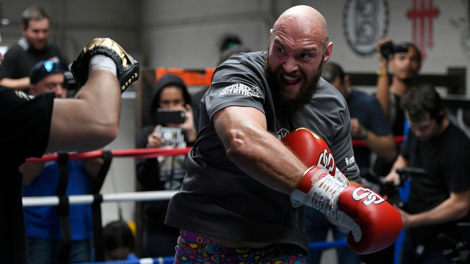 Tyson Fury in training