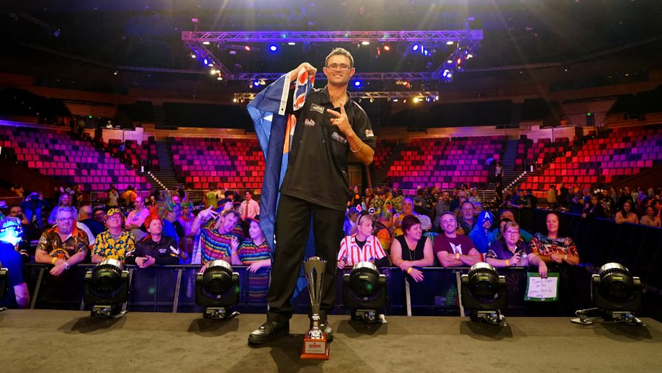 Damon Heta wins the Brisbane Darts Masters (Picture: PDC/DartsPlace)