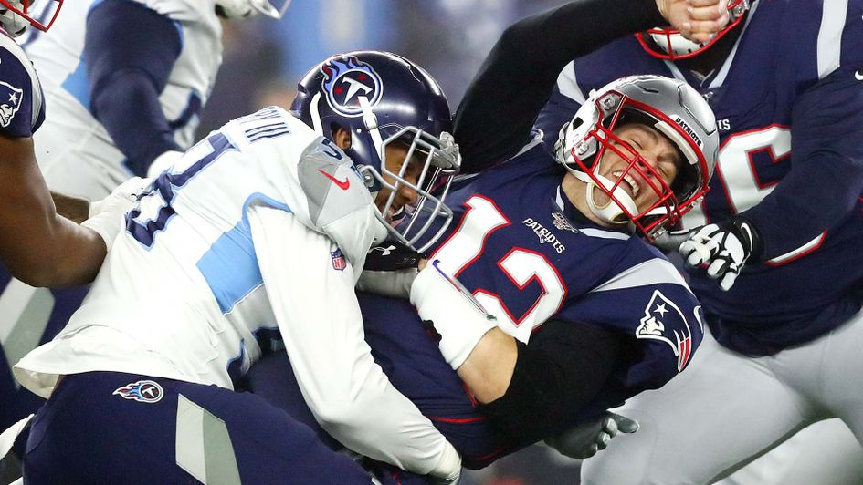 Tom Brady hit hard as the New England Patriots lost to the Tennessee Titans