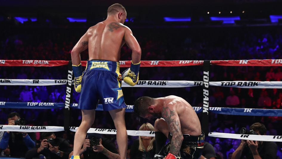 The moment of victory for Lomachenko in New York