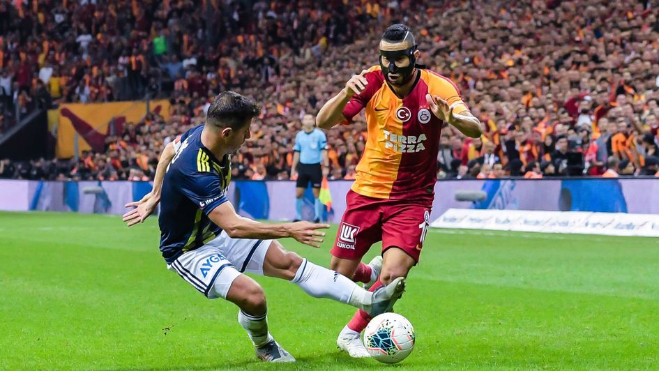 Younes Belhanda: Galatasaray ace pictured in action against Fenerbahce