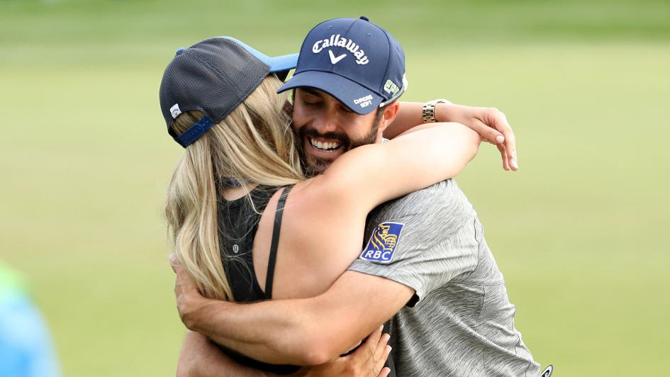 Adam Hadwin: Celebrates his win