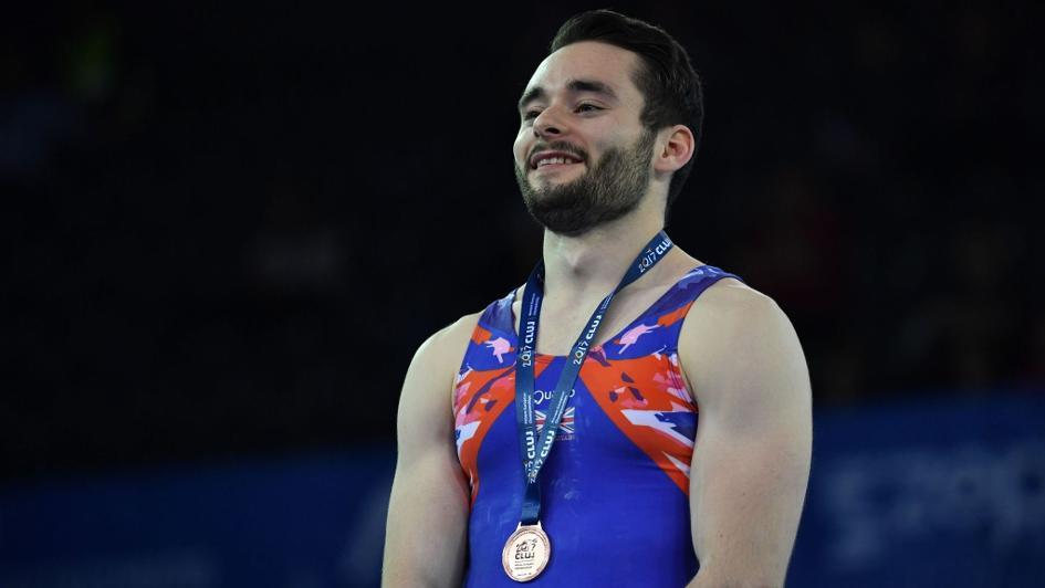 James Hall wins European all-around bronze in Cluj
